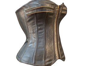 Zipper Corset Leather 3D model