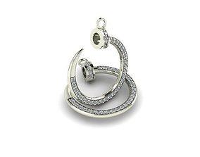 3D printable model pendant diamond chanel