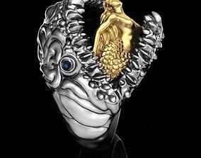Ring Mermaid and Beast 3D print model