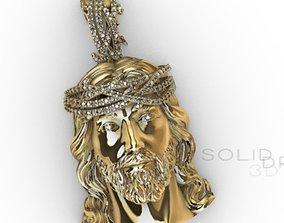 Pendant Christ studded diamond 3D print model