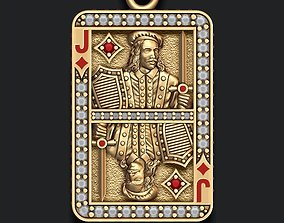 Diamonds Jack playing card pendant 3D printable model