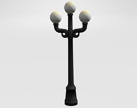 Street Lamp light 3D model low-poly