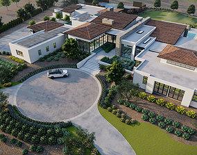 luxury Residence Landscape sketchup model and render