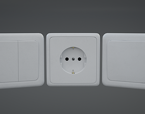 3D model Electrical Switch Outlet