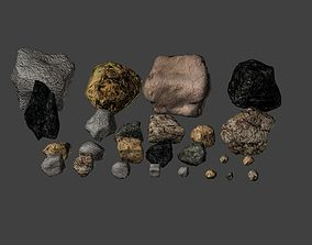 3D asset realtime Stone pack
