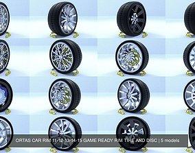 ORTAS CAR RIM 11-12-13-14-15 GAME READY RIM TIRE AND 3D