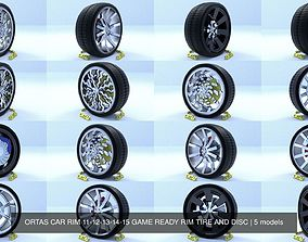 ORTAS CAR RIM 11-12-13-14-15 GAME READY RIM TIRE AND 3D