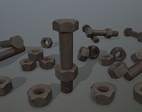 cutting Bolts 3D model realtime