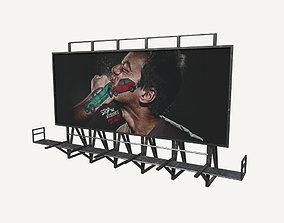 Billboard 3D model low-poly