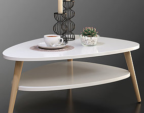 Modern coffee table Jimi La Redoute with decorative set 2