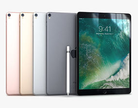 iPad Pro 10-5 2017 All Color with 3D model