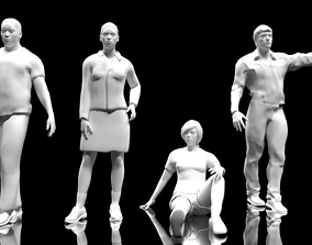 3D model People low-poly