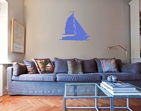 3D printable model Sailing boat for wall decoration 5