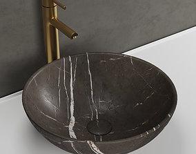 3D Giro pietra grey marble basin Lusso stone model
