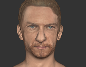 low-poly James Mc avoy head realistic actor Hollwood