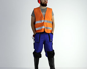 architectural 3D Scan Man Worker Safety 018