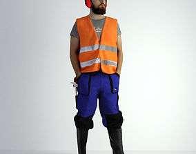 3D Scan Man Worker Safety 018