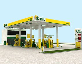 S-oil Korean Petrol And Gas Station 3D