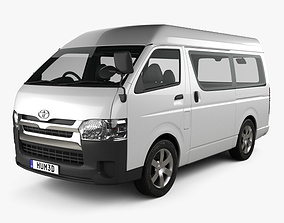 3D model Toyota Hiace Passenger Van L1H3 DX 2013