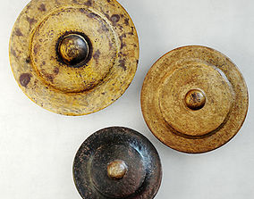 19th C Bronze Gongs 3D