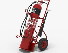 3D asset VR / AR ready Fire extinguisher