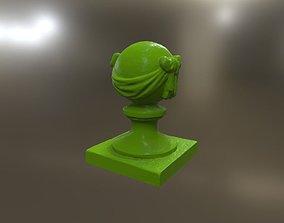 3D printable model Stone Ball on pillar