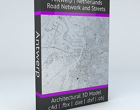 Antwerp Road Network and Streets 3D