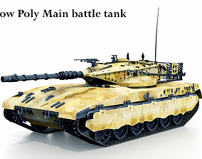 3D asset Low Poly Tank