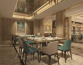 3D model Restaurant luxury lamp