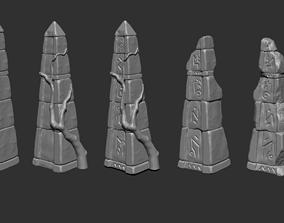 3D print model Ancient Stone Tomb and Column