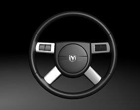 3D Dodge Steering Wheel vehicle-part