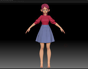 3D model ZBrush Stylized Character Girl Base Mesh 5