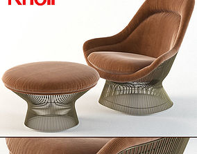 knoll Warren Platner Easy Chair- ottoman- Knoll 3D