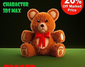 Teddy Bear cartoon rigged 3D model