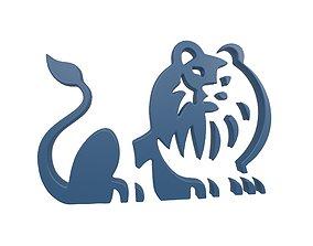 Lion Emblem v4 004 3D asset