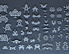 Ornate decoration parts bash 3D asset