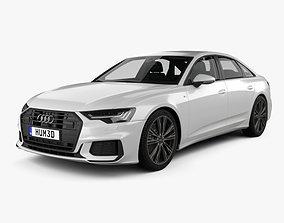 Audi A6 S-Line sedan with HQ interior 2018 3D