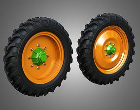 Tractor Tires and Rims - T08 3D model