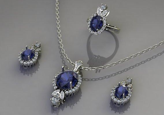 set of diamonds jewelry