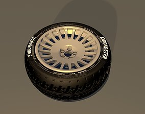 3D model Rally mid poly rim Free tire not included