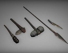 Prehistoric tools 3D model