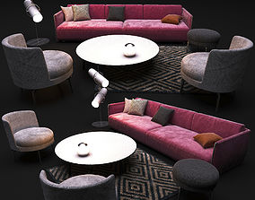 3D Set of furniture from FLEXFORM