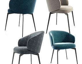 Lema Bice Dining Chairs 3D