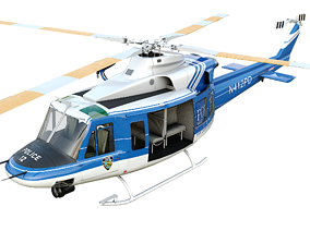 3D model realtime Bell-412 NYPD Detailed cockpit