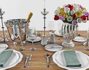 Set Dinner Table 1 3D model