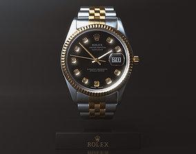 Rolex Datejust Watch With Diamonds Dial - C4D Octane 3D