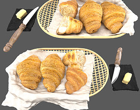 3D model Croissants and butter set other