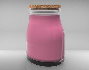 3D model Oval Jar 1000ml