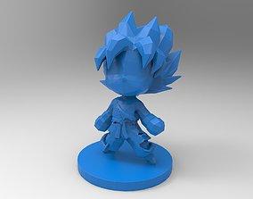 3D printable model Goku SSJ chibi