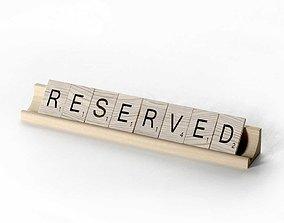 3D Scrabble Letter Tiles Reserved